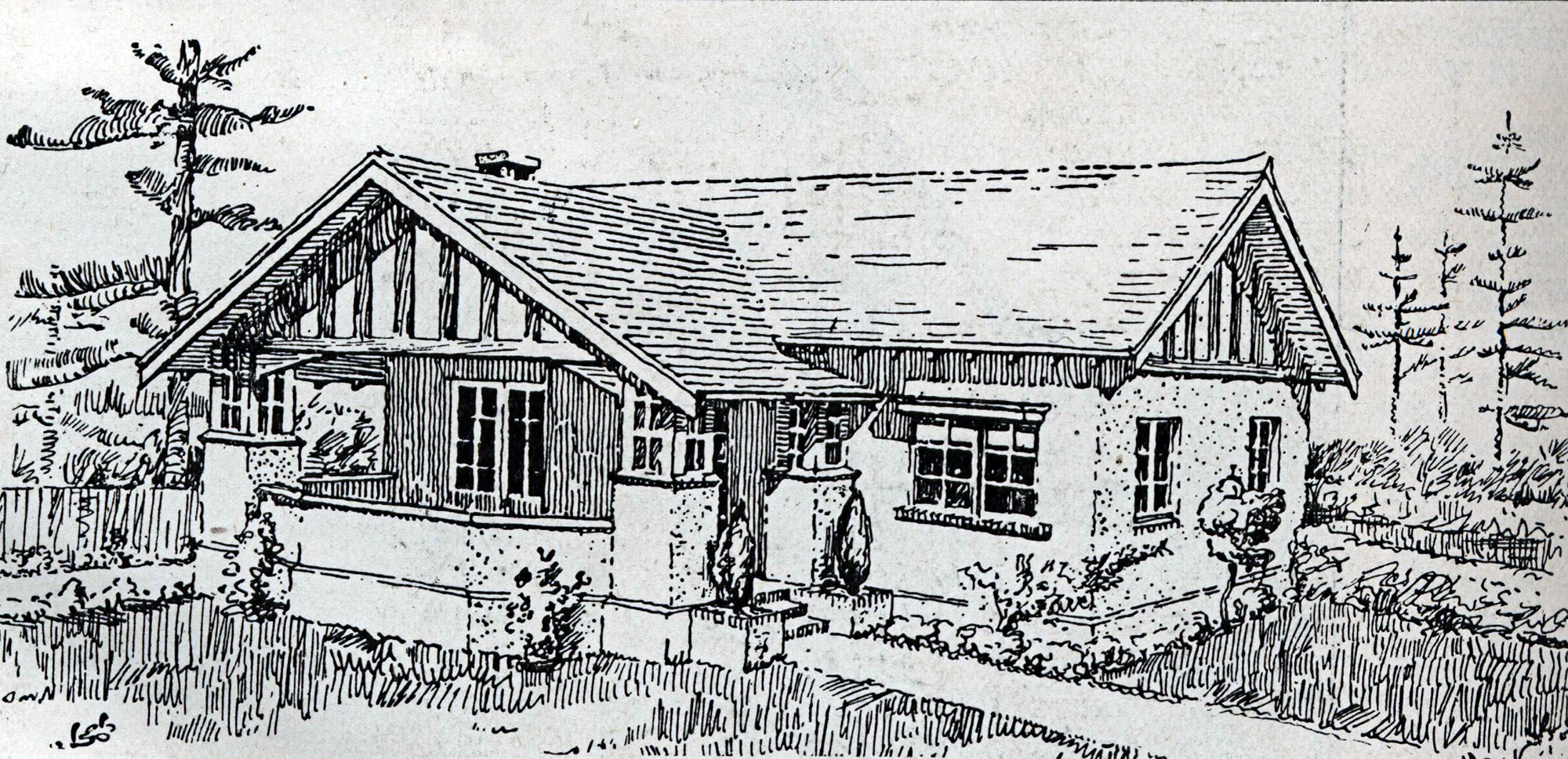 This 1920 Plan By W Simon And Co Shows A Large Californian Bungalow Typical Of Affluent Wollstonecraft The Half Timbered Gable Clearly Link To