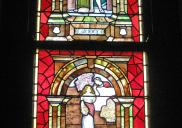 , This stained glass window, by an unknown maker, is a good example of the emphasis on beauty and craft in Federation-era architecture. It is located in the stairwell of the two-storey house at 8 Wulworra Avenue, Cremorne. Photograph by Ian Hoskins, 2013.
