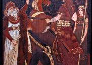 , Detail from 'Kelrose' mantle piece showing Boudicca. Photograph by Tony Peri, 2010. Stanton Library