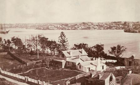 , The east west orientation of 'Bell'vue' is clear in this photograph from around 1870 before Moses Bell bought the property. State Library of New South Wales