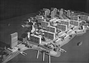 , A model of the McMahons Point resumption scheme that gave rise to Blues Point Tower. Photograph by Max Dupain, 1957. Courtesy Seidler family and Max Dupain and Associates / Eric Sierens