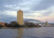 , 'Blues Point Tower' is now a familiar part of the Harbour skyline. However, such an impact upon views of the Sydney Harbour Bridge would probably not be approved under current development controls. Photograph by Ian Hoskins, 2015