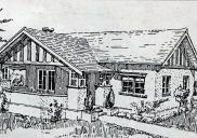 , This drawing from a 1925 issue of <i>Building<I/> shows an example of the Californian Bungalow that had come to dominate Sydney's new suburban streetscapes. Stanton Library