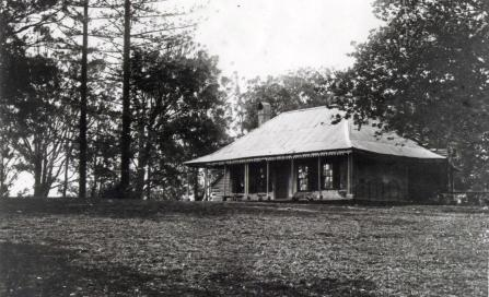 , This photograph of Crows Nest Cottage was taken just before it was demolished in 1904. Stanton Library
