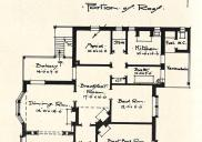 , Though hardly grand this bungalow, designed by Donald Esplin for Mr A J C Lenehan in Cremorne in 1915, still featured a maid's room. Interestingly, the toilet appears to have been shared. <i>Building,<i/>, 11 September 1915. Stanton Library