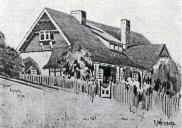 , The Vicarage that Jackson designed for the Rector of St Thomas Church, North Sydney, in the early 1900s. Drawing by BJ Waterhouse. Stanton Library