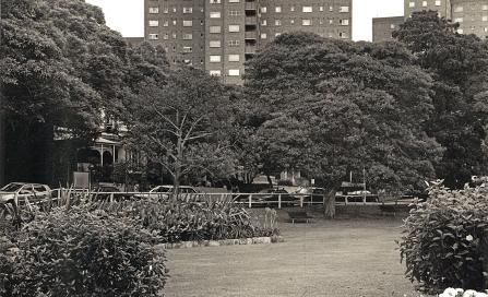 , 'Greenway Flats' from Milson Park. Photograph by Zoltan Klinger, 2003. Stanton Library