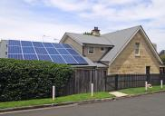 , 'Henbury Villa' showing newly installed solar panels. Photograph by Ian Hoskins, 2014