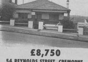, Whereas real estate advertising forms a large part of the content of local newspapers today, they were not prominent during the last century. This advertisement for a house in Cremorne was one of five properties offered by Richardson and Wrench in the <i> Great Northern </i> of 13 October 1965. The price represented 437 weeks wages for a male shop assistant and over 500 for a female. Today a house of this type is the equivalent of well over 1,000 weeks pay on an average salary. Stanton Library