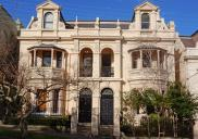 , Classically-inspired Italianate detailing abounds on these semi-detached dwellings at 15 and 17 lower Walker Street, North Sydney. These and the identical pair next door are possibly the most elaborate examples of Victorian Italianate house design in North Sydney. They date to the late 1880s. The architect is unknown. Photograph by Ian Hoskins, 2015