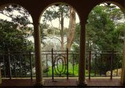 , View to the Harbour from 'Nutcote's' loggia. Photograph by Ian Hoskins, 2014