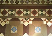 , Tessellated tiles in the doorway of the West Street entry to three-storey dwelling. Photograph by Ian Hoskins, 2015