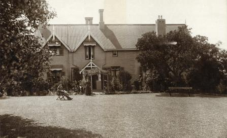 , View from back garden, 1908-1918. Stanton Library