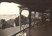, View of harbour from verandah, 1908-1918. Stanton Library