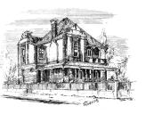, 'Tendring', one of the first Vernon house designs to be completed on the Neutral Bay Land Company estate, from the 1889 prospectus, Stanton Library