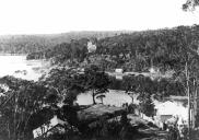 , View to 'Warringah Lodge' from Folly Point, c.1900. Stanton Library.